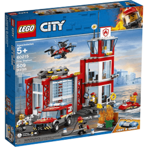 CASERNE POMPIERS LEGO