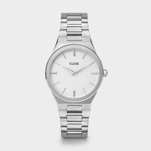 MONTRE CLUSE-Vigoureux Steel-Silver Snow White/Silver